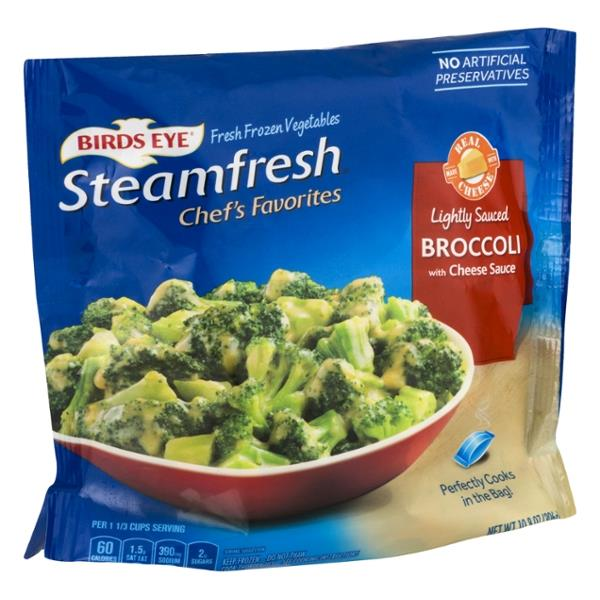 Birds Eye Steamfresh Chef's Favorites Broccoli with Cheese Sauce 10.8 oz. Bag