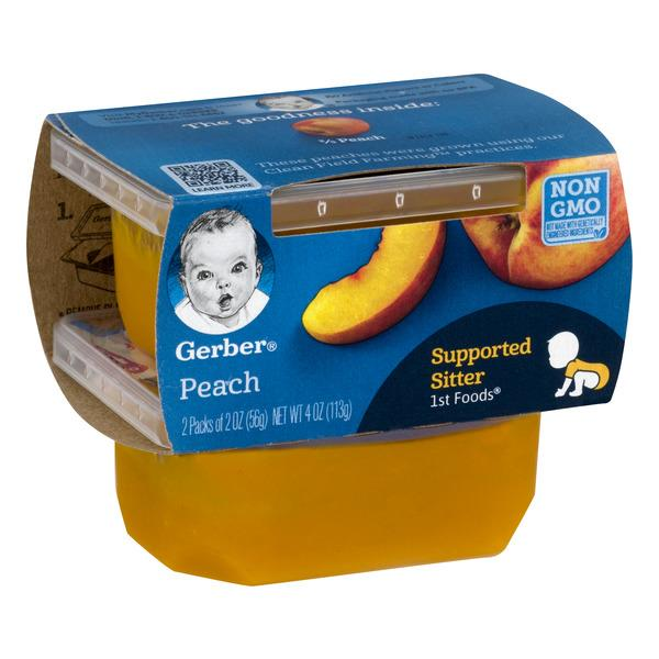 Gerber 1st Foods Peach 2 - 2 oz. Cups