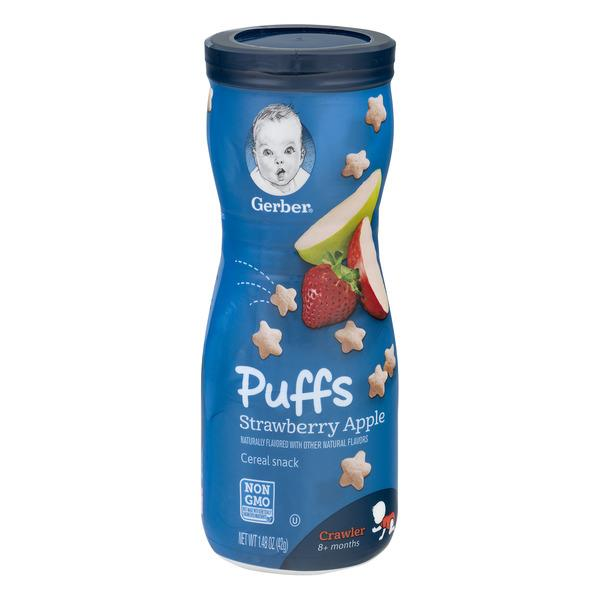 Gerber Graduates Strawberry Apple Puffs Cereal Snack