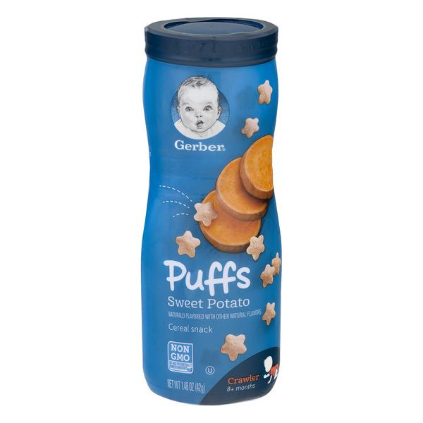 Gerber Graduates Sweet Potato Puffs Cereal Snack