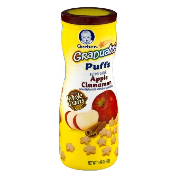 Gerber Graduates Apple Cinnamon Puffs Cereal Snack