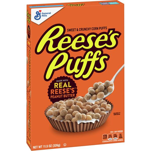 General Mills Reese's Peanut Butter Puffs, Breakfast Cereal