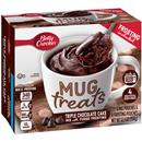 Betty Crocker Mug Treats Triple Chocolate Cake Mix with Fudge Frosting 4Ct