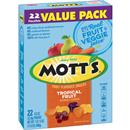 Mott's Tropical Fruit Flavored Snacks 22-0.8 oz Pouches