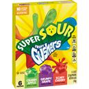 Betty Crocker Super Sour Fruit Gushers 6 - .8 oz Pouches