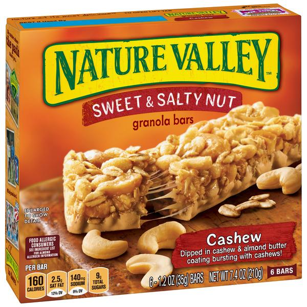 Nature Valley Cashew Sweet & Salty Nut Granola Bars 6-1.2 oz Bars