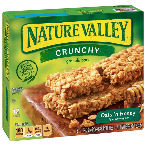 Nature Valley Oats 'n Honey Crunchy Granola Bars 6-1.49 oz Pouches