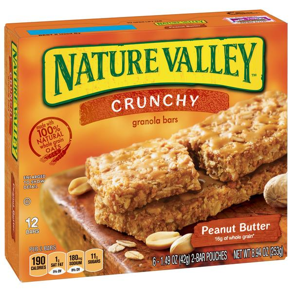 Nature Valley Peanut Butter Crunchy Granola Bars 6-1.49 oz Pouches