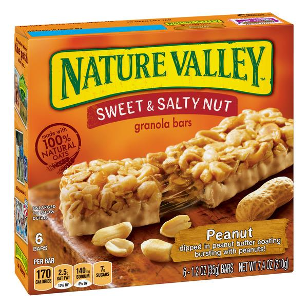 Nature Valley Peanut Sweet & Salty Nut Granola Bars 6-1.2 oz Bars
