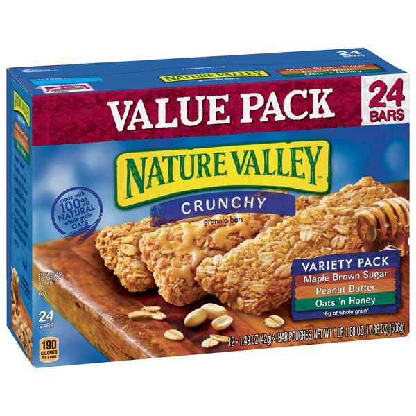 Nature Valley Crunchy Granola Bars Variety Pack 12-1.49 oz Pouches