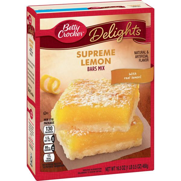 Betty Crocker Delights Supreme Lemon Bars Mix