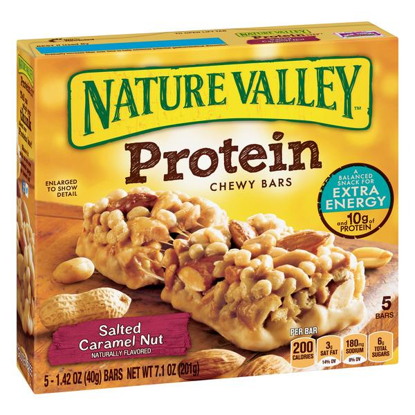 Nature Valley Salted Caramel Nut Protein Chewy Bars 5-1.42 oz Bars