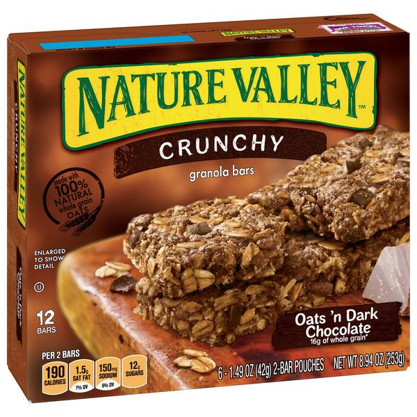 Nature Valley Oats 'n Dark Chocolate Crunchy Granola Bars 6-1.49 oz Pouches