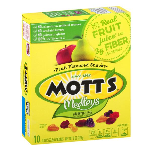 Mott's Medleys Assorted Fruit Flavored Snacks 10-0.8 oz Pouches