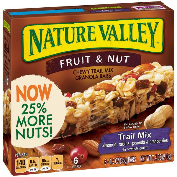 Nature Valley Fruit & Nut Chewy Trail Mix Granola Bars 6-1.2 oz Bars