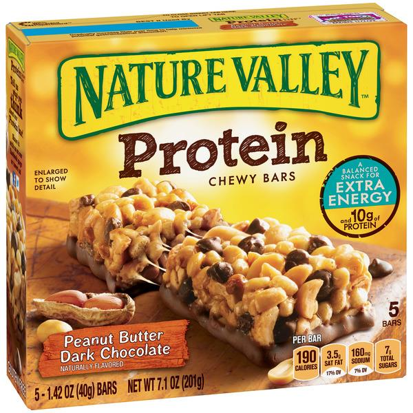 Nature Valley Peanut Butter Dark Chocolate Protein Chewy Bars 5-1.42 oz Bars