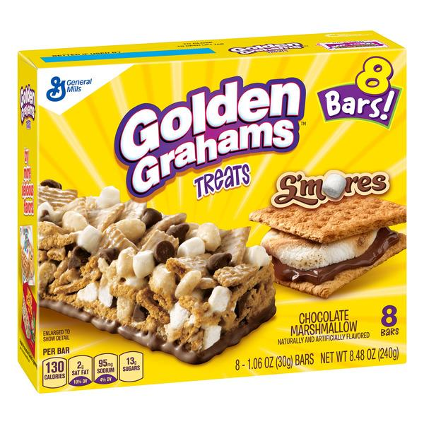 General Mills Golden Grahams Treats S'mores Treats 8-1.06 oz Bars