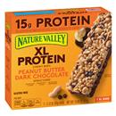 Nature Valley Chewy Granola Bars XL Protein Gluten Free Peanut Butter Dark Chocolate, 7 - 2.12 oz Bars