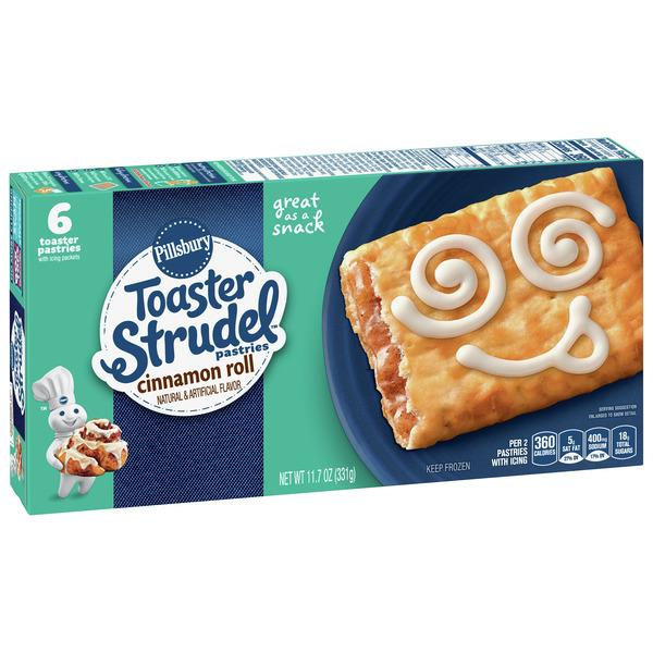 Pillsbury Toaster Strudel Cinnamon Roll Toaster Pastries 6Ct