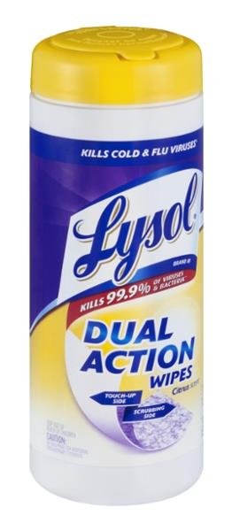 Lysol Dual Action Citrus Scent Disinfecting Wipes 35 ct