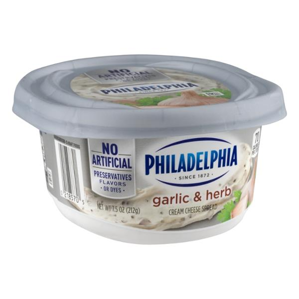 philadelphia herb and garlic cream cheese nutrition
