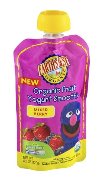 Earth's Best Organic Fruit Yogurt Smoothie Mixed Berry