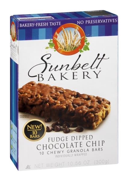 Sunbelt Bakery Fudge Dipped Chocolate Chip Chewy Granola Bars 10Ct