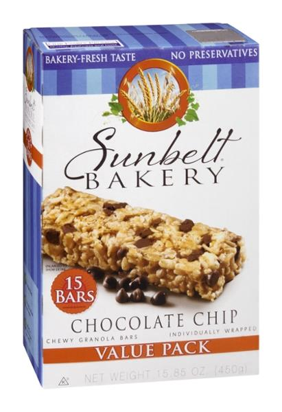Sunbelt Bakery Chocolate Chip Chewy Granola Bars Value Pack 15Ct