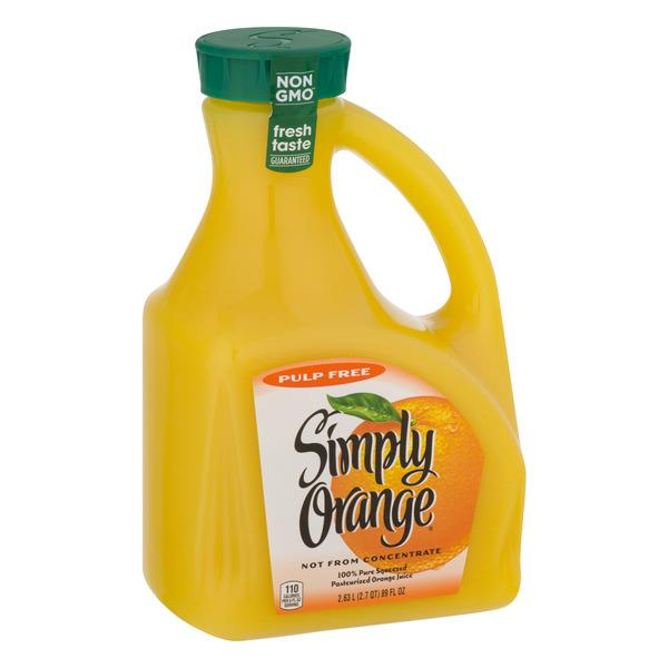 Simply Orange Pulp Free Juice