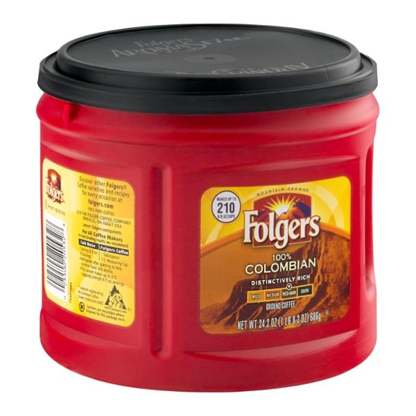 Folgers 100% Colombian Med-Dark Ground Coffee
