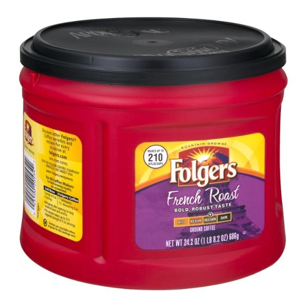 Folgers French Roast Med-Dark Ground Coffee