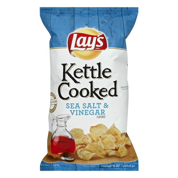 Lays Kettle Cooked Sea Salt and Vinegar Potato ChipsPlastic Bag