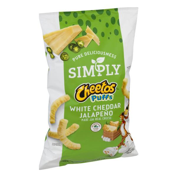 Simply Cheetos Puffs White Cheddar Jalapeno Cheese Flavored Snacks  7.75 Ounce Plastic Bag