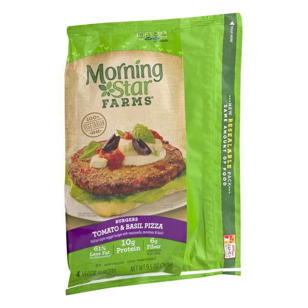 Morning Star Farms Tomato & Basil Pizza Burgers 4Ct