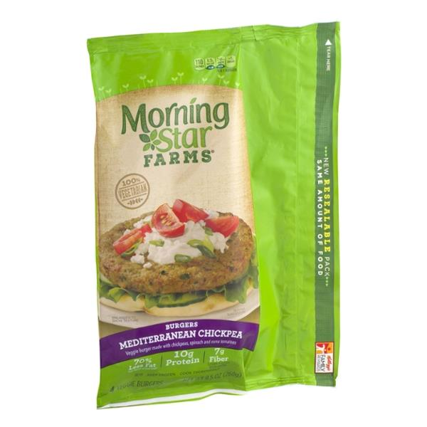 Morning Star Farms Burgers Mediterranean Chickpea 4Ct