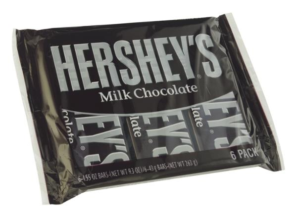 Hershey's Milk Chocolate Candy Bars 6 ct Pack