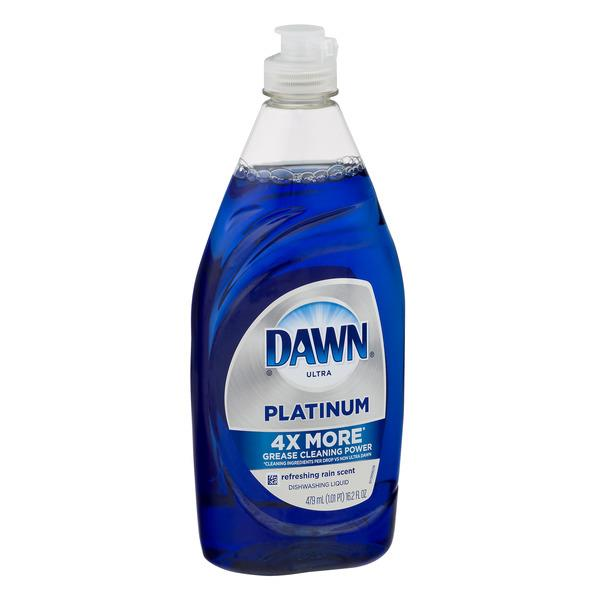 Dawn Platinum Dishwashing Liquid Dish Soap Refreshing Rain
