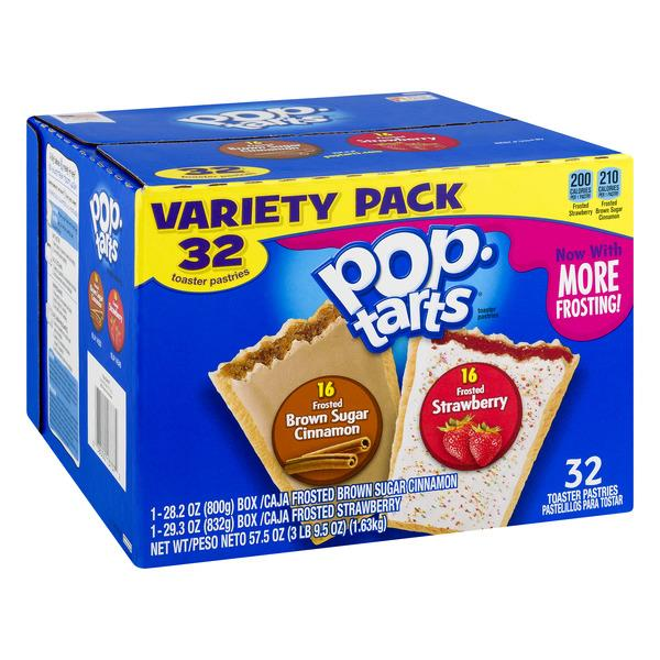 Kellogg's Pop-Tarts Frosted Strawberry/Frosted Brown Sugar Cinnamon Toaster Pastries Variety Pack