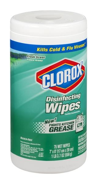 Clorox Disinfecting Wipes Fresh Scent 75Ct