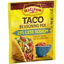 Old El Paso 25% Less Sodium Taco Seasoning Mix