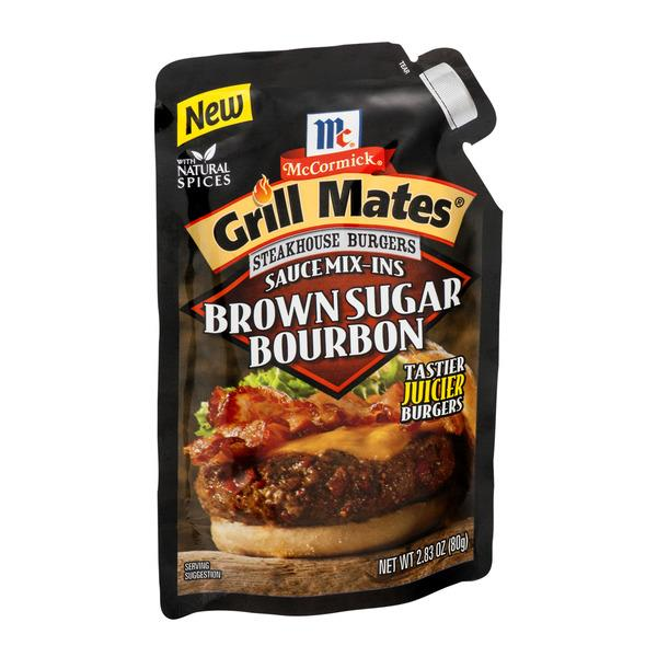 McCormick Grill Mates Brown Sugar Bourbon Steakhouse Burgers Sauce Mix-Ins, 2.83 oz. Pouch