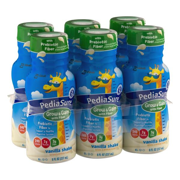 PediaSure Grow & Gain with Fiber Kids' Nutritional Shake Vanilla Ready-to-Drink 6pk