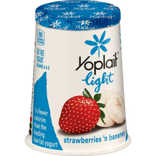 Yoplait Light Strawberries 'n Bananas Fat Free Yogurt
