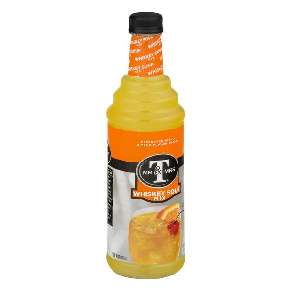 Mr & Mrs T Whiskey Sour Mix, 1 L Bottle