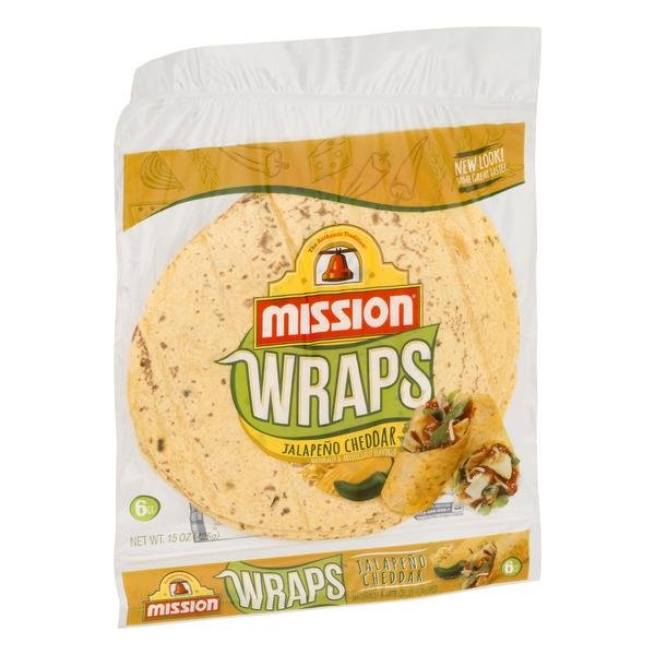 Mission Jalapeno Cheddar Wraps 6Ct
