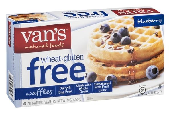 Van's Natural Foods Wheat & Gluten Free Blueberry Waffles 6Ct | Hy-Ve...