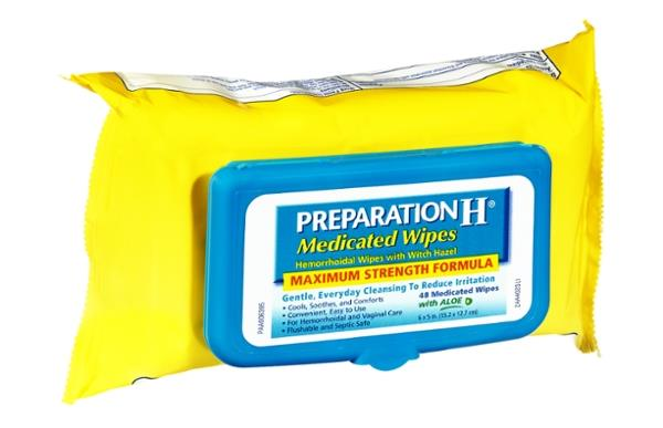 Preparation H Maximum Strength Formula Hemorrhoidal Medicated Wipes