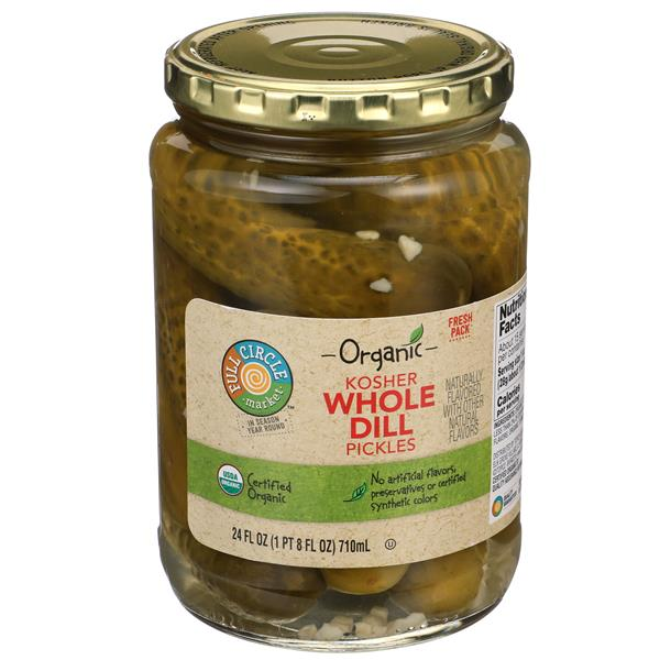 Full Circle Organic Whole Dill Pickles