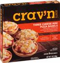 Crav'N Flavor Three Cheese Mini Pizza Bagels, 9Ct
