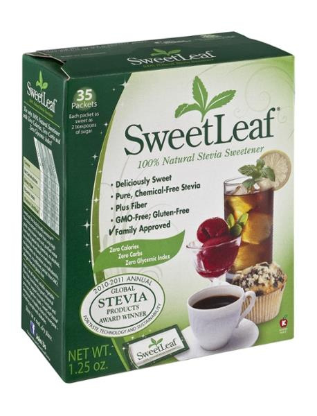 sweetleaf 100 natural stevia sweetener hy vee aisles online grocery shopping. Black Bedroom Furniture Sets. Home Design Ideas
